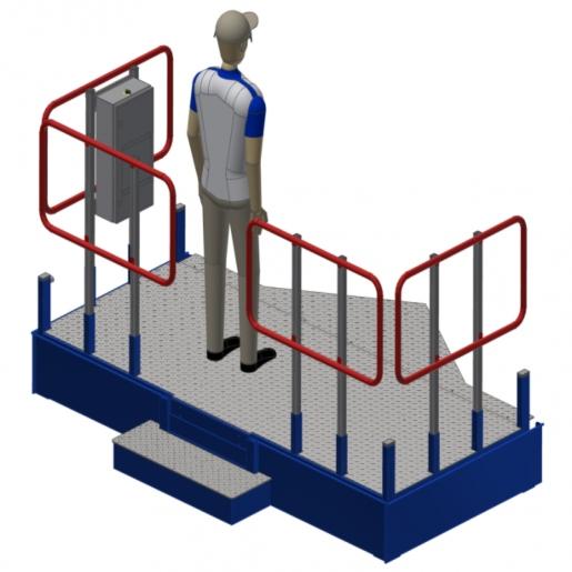 Height-Adjustable Platform for Operators