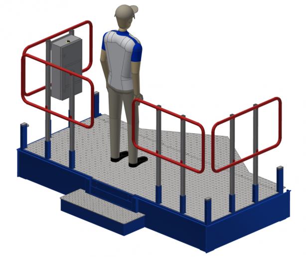 Ergonomic Height-Adjustable Platform